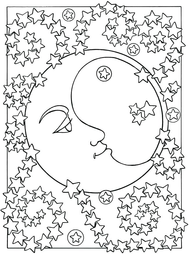 650x871 Star Coloring Pages Star Coloring Pages For Preschoolers Space