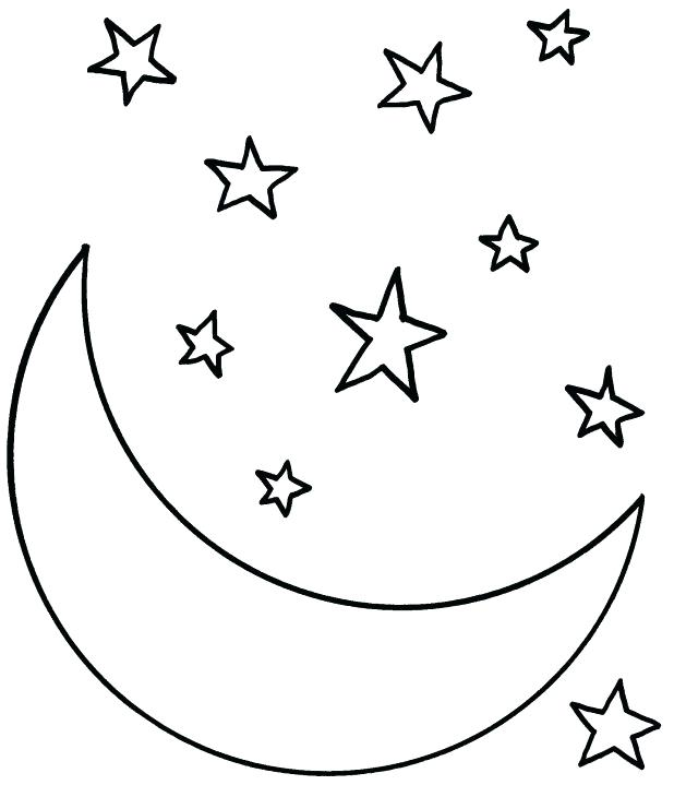 618x730 Moon Coloring Pages For Preschoolers