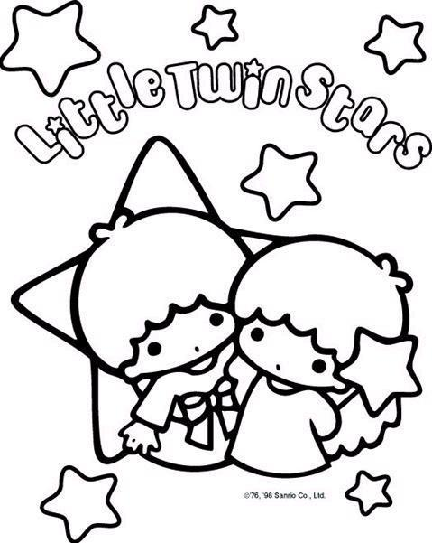 479x601 Little Twin Stars Coloring Pages