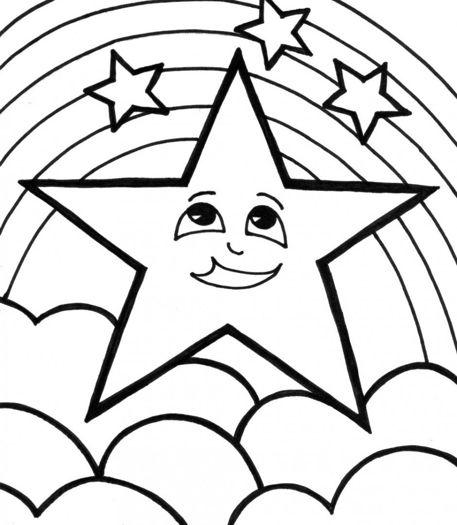 940x1080 Shooting Star Coloring Page Convenient Free Pages Colouring Images