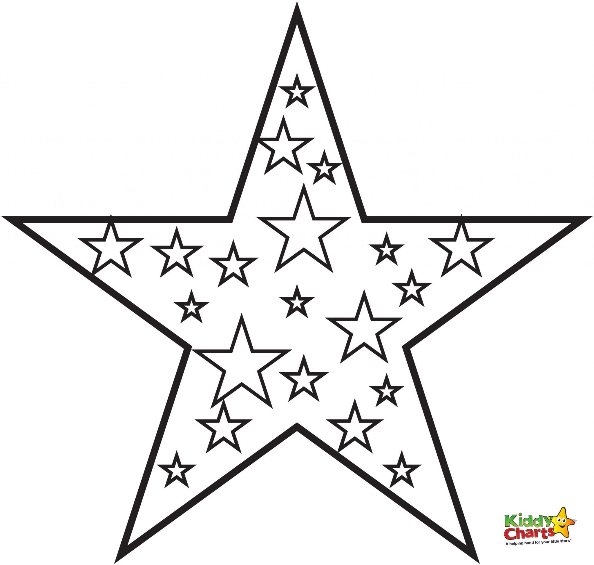2048x1948 Star Coloring Pages Printable