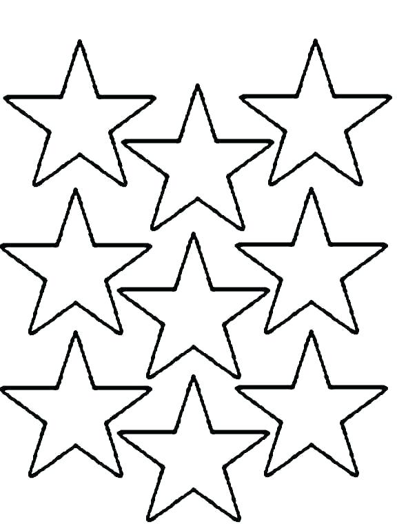 576x760 Star Coloring Pages Printable Printable Star Coloring Pages Star