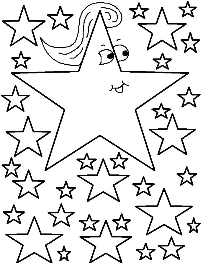 688x891 Star Coloring Pages Printable Star Coloring Pages Printable