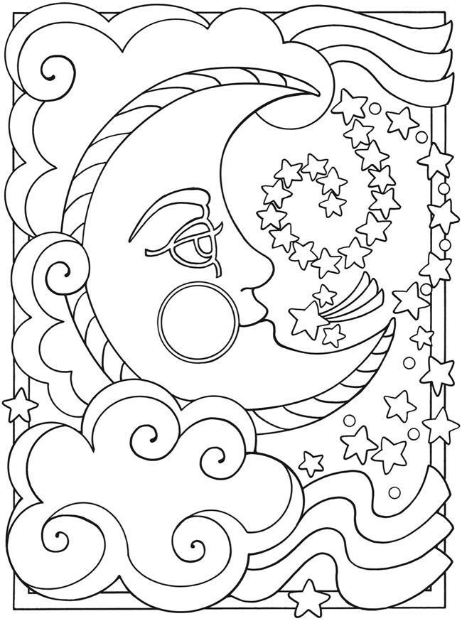 650x874 Sun And Moon Coloring Pages