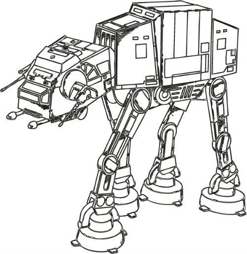 500x514 Star Wars Walker Free Coloring Page Adults, Kids, Movies, Star