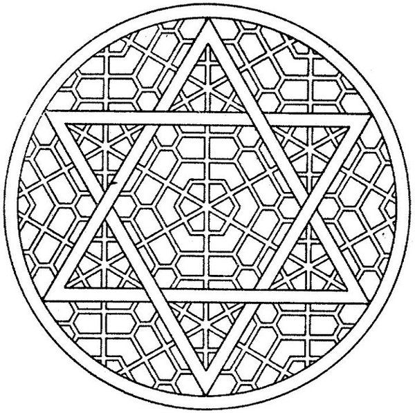 600x598 Best Star Of David Coloring Page Free Printable