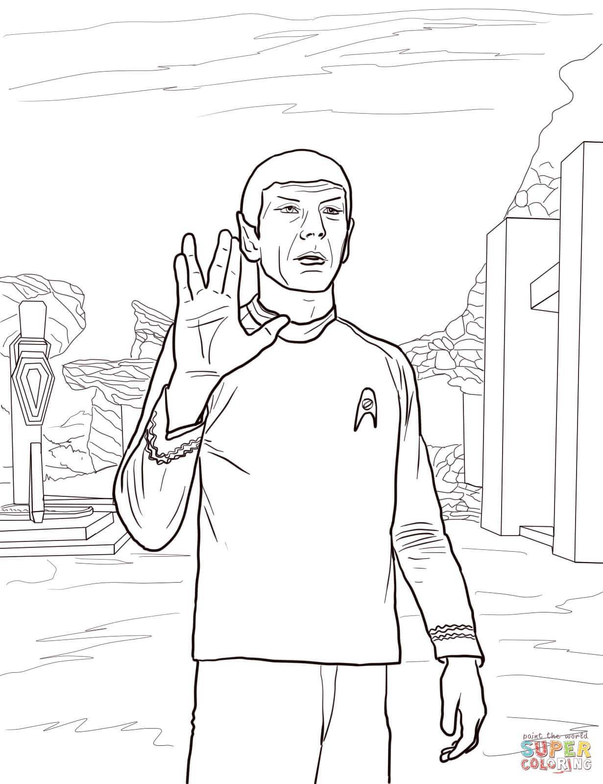 1231x1600 Best Star Trek Spock Coloring Page Printable Image For Of David