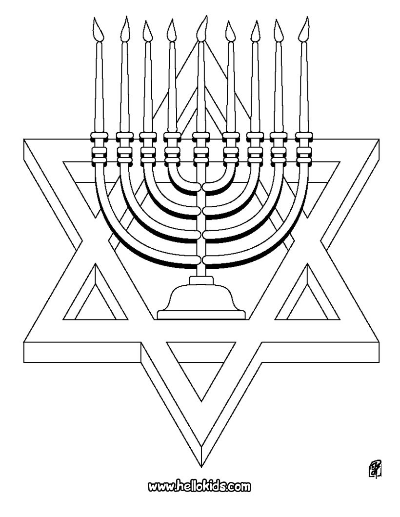 820x1060 Star Of David Coloring Pages