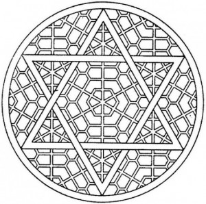 300x298 Star Of David Mosaic Coloring Page Grown Ups Like To Color, Too