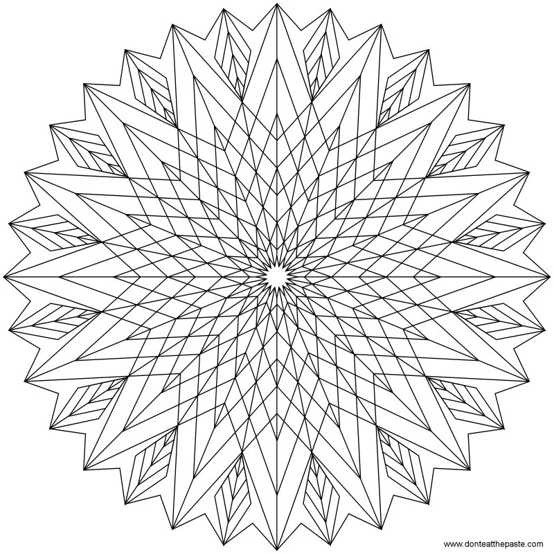 Star Pattern Coloring Page