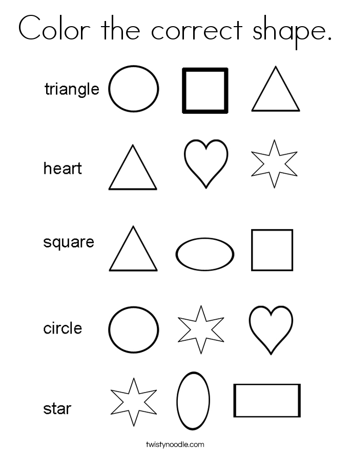 Star Shape Coloring Page