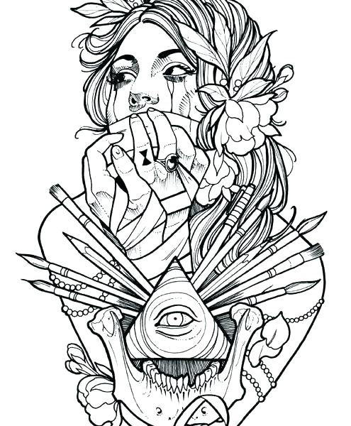 495x600 Prissy Inspiration Tattoo Coloring Pages The Book Together