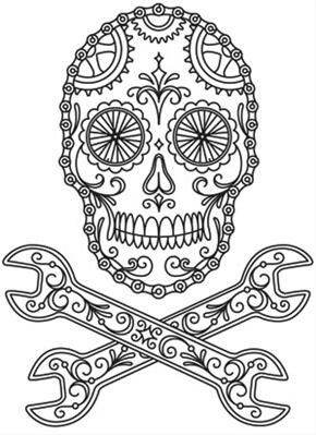 290x399 Best Skull Color Pages Images On Coloring Books