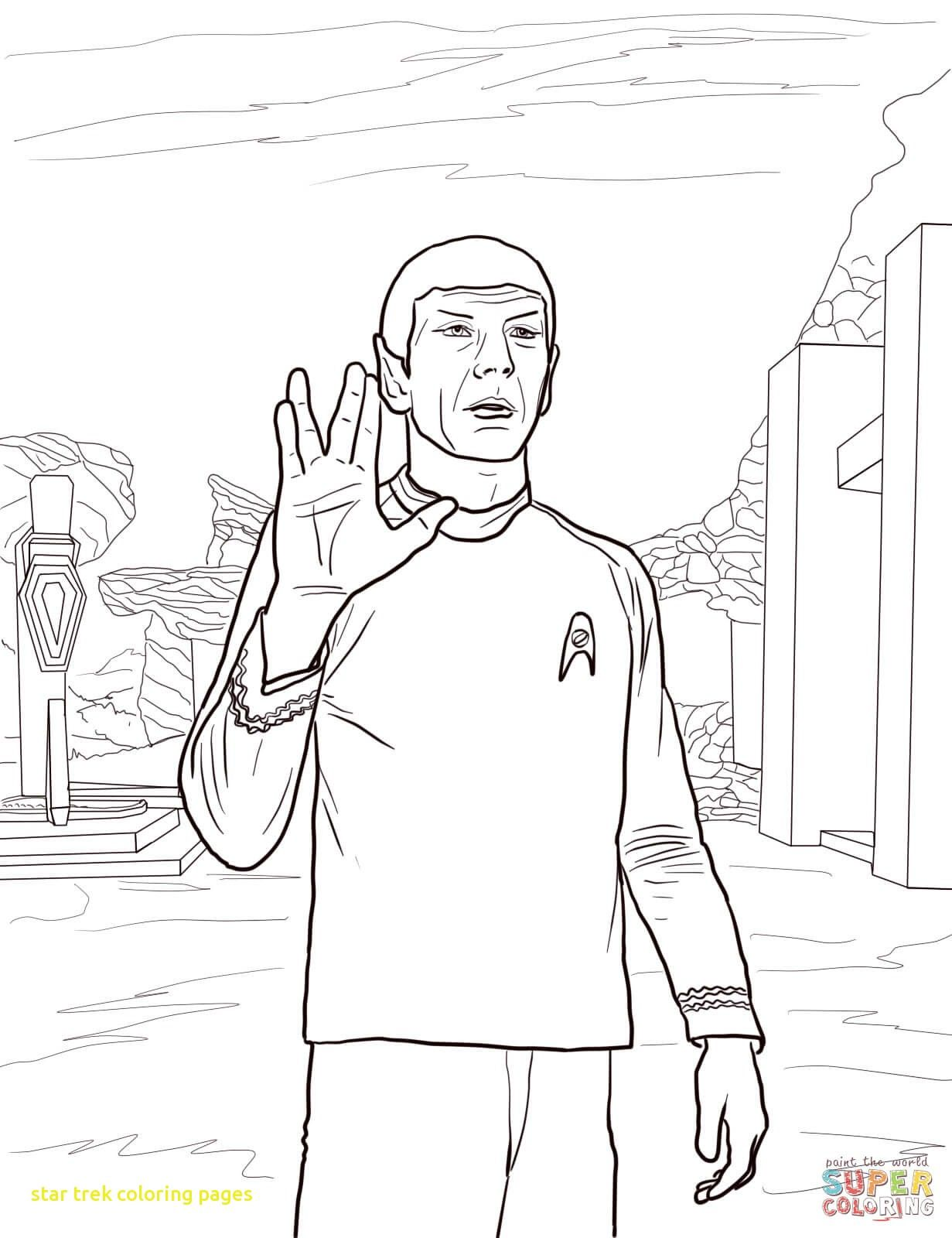 1231x1600 Star Trek Coloring Pages With Star Trek Spock Coloring Page