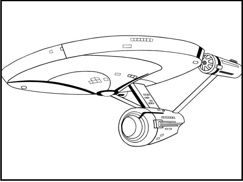 800x600 Star Trek Ship Coloring Pages