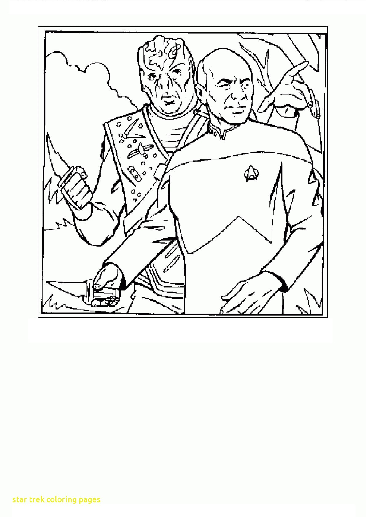 1190x1683 Star Trek Spock Coloring Page Free Printable Pages Tearing