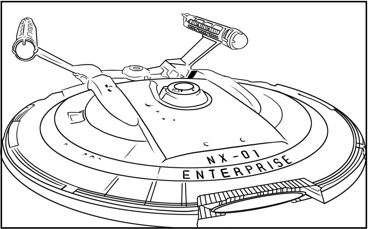 1236x769 The Uss Starship Enterprise From Star Trek Coloring Picture