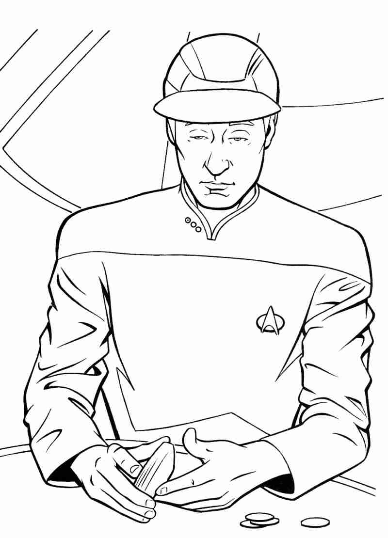 800x1110 Easy Star Trek Coloring Pages For Kids To Good Draw Printable