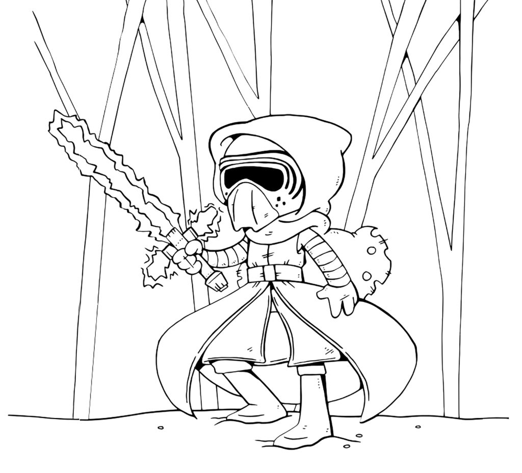 1024x928 Kylo Ren In Star Wars The Last Jedi Coloring Pages Get Download