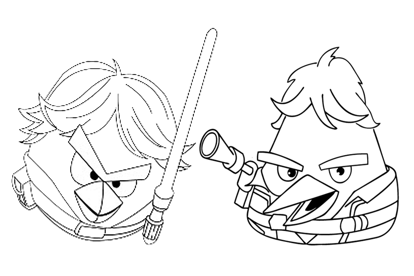 850x567 Angry Birds Star Wars Colouring Pages Angry Birds Coloring Pages