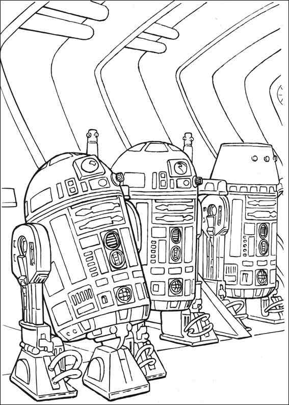 567x794 Star Wars Coloring Page