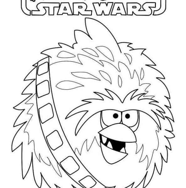 593x600 Star Wars Angry Birds Coloring Pages Kids N Fun Coloring Pages