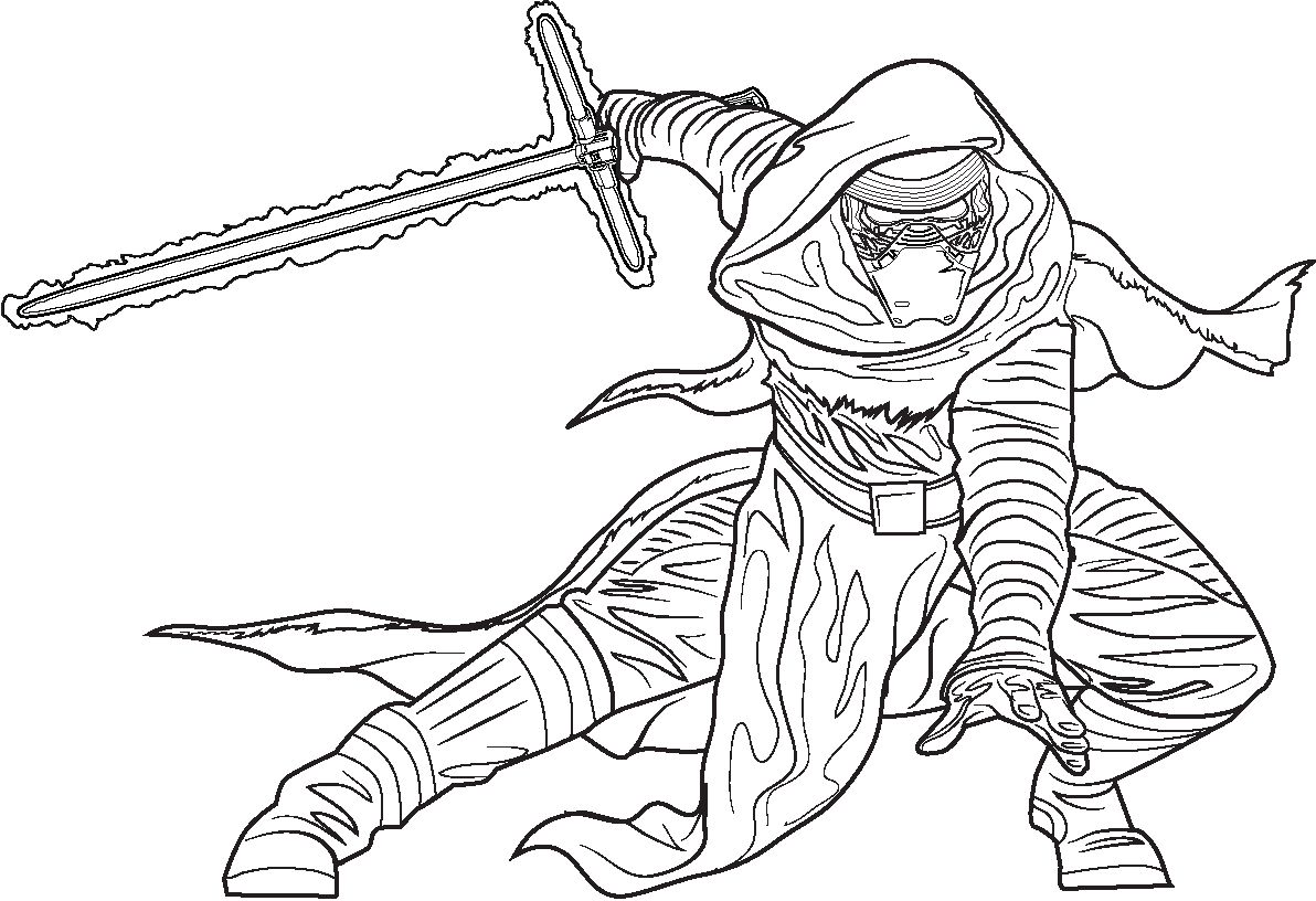 1192x816 Star Wars The Force Awakens Coloring Pages