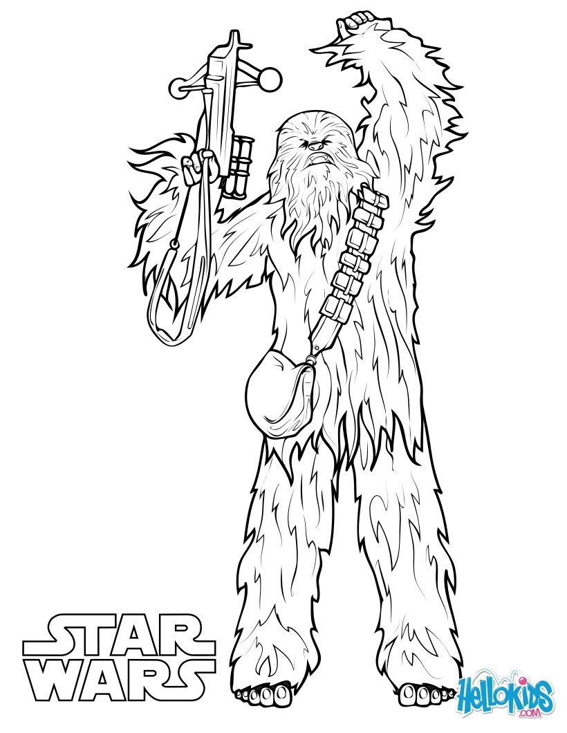 820x1060 Chewbacca Coloring Page More Star Wars Content