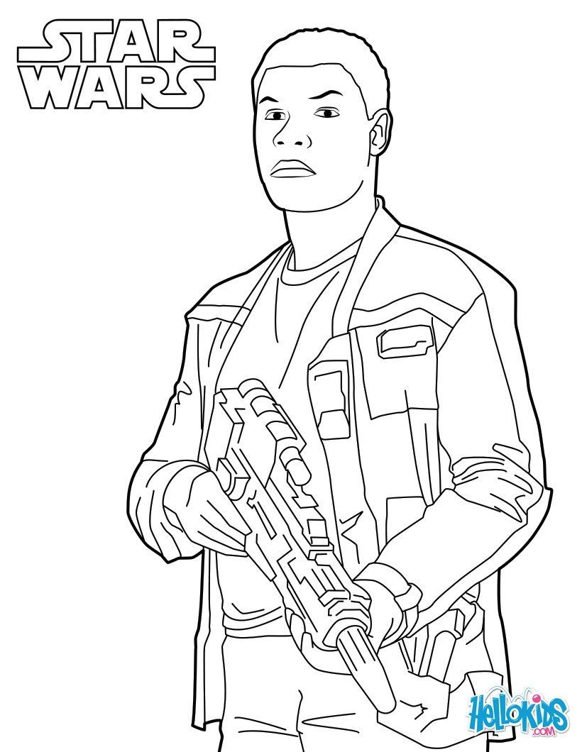 820x1060 Finn Coloring Page From The New Star Wars Movie The Force Awakens