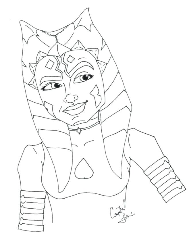 665x828 Ahsoka Tano Coloring Pages Coloring Sheet Star Wars The Clone