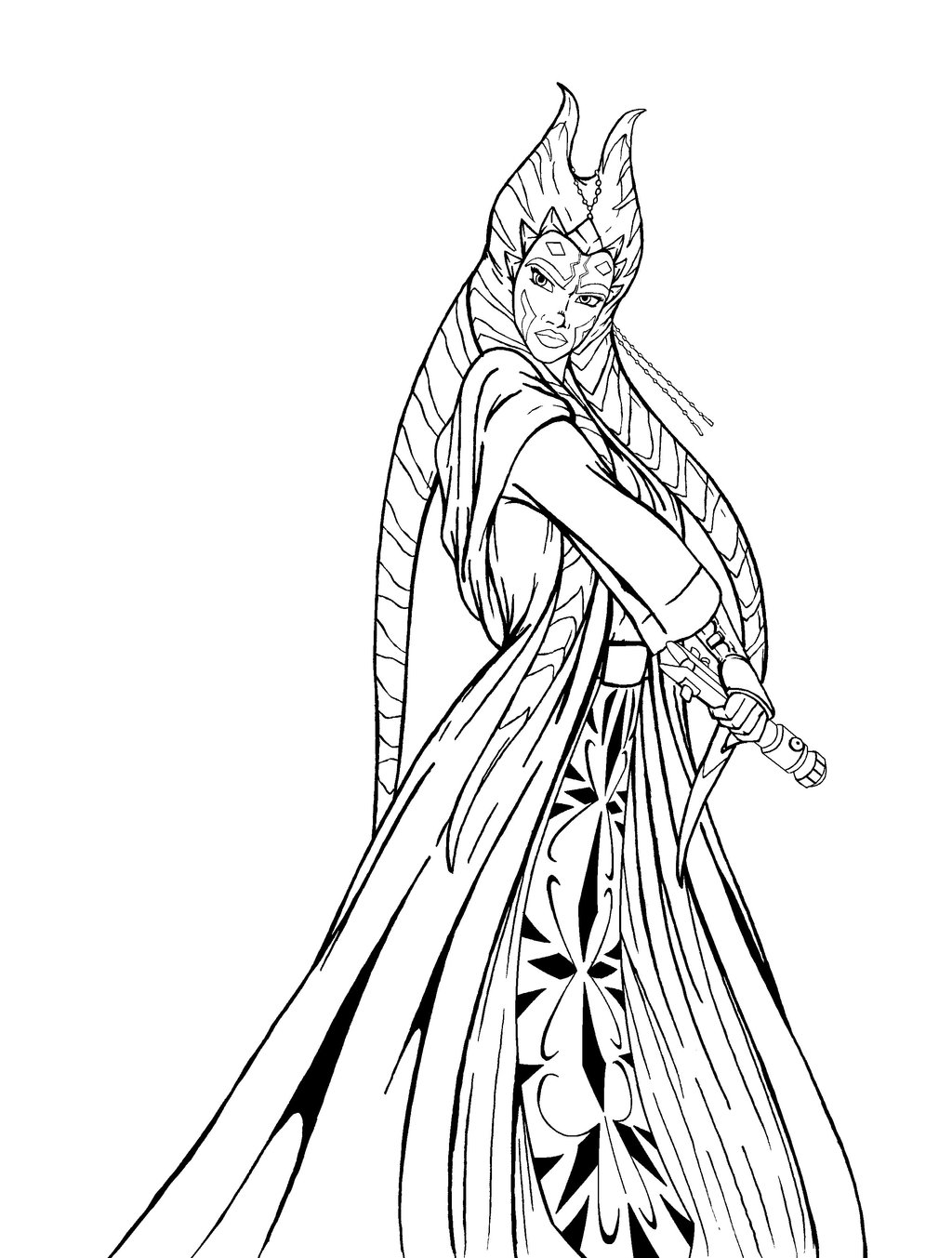 1024x1353 Ahsoka Coloring Pages Download And Print For Free