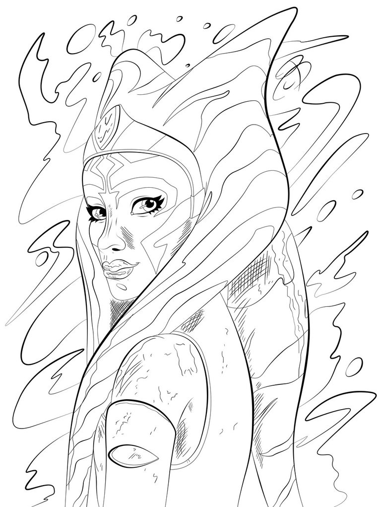 782x1021 Coloring Pages Ahsoka Tano