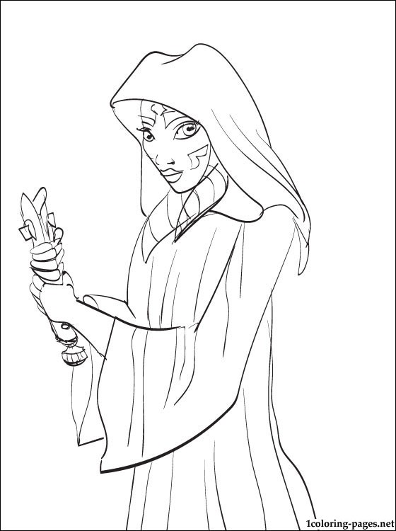 560x750 Star Wars Ahsoka Tano Printable Page To Color Coloring Pages