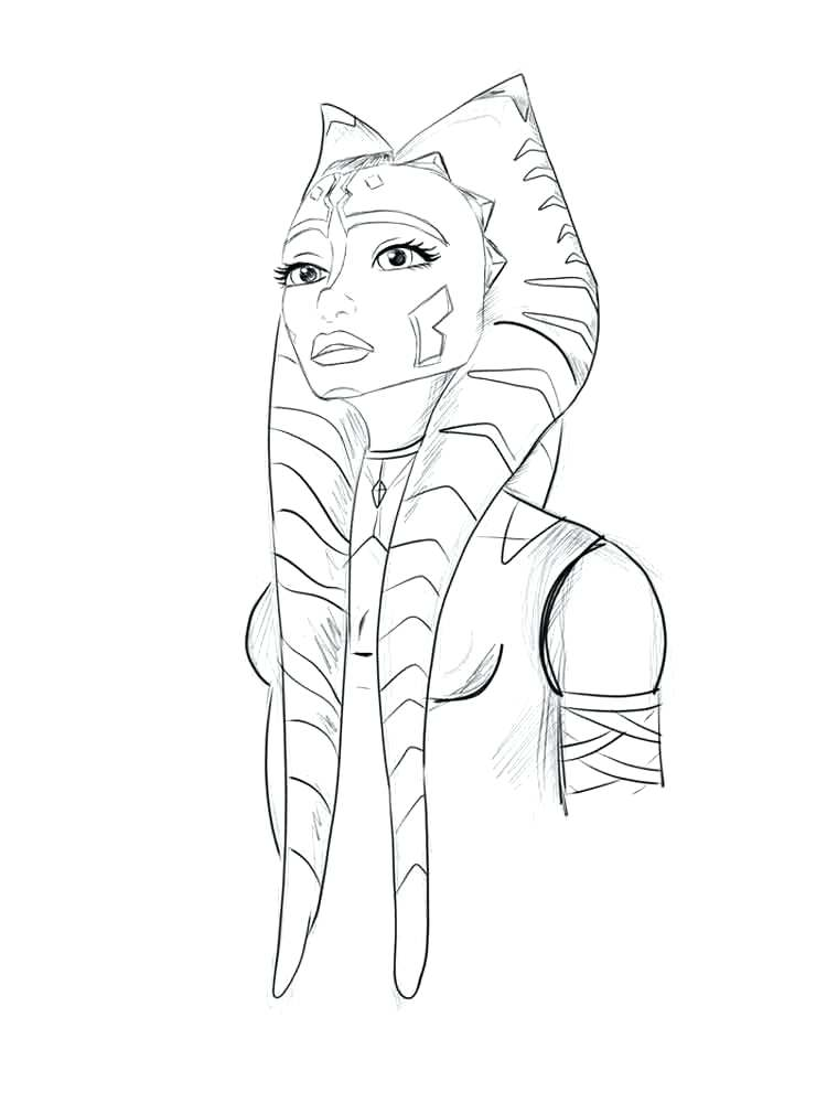 750x1000 Ahsoka Tano Coloring Pages Coloring Pages Star Wars The Clone