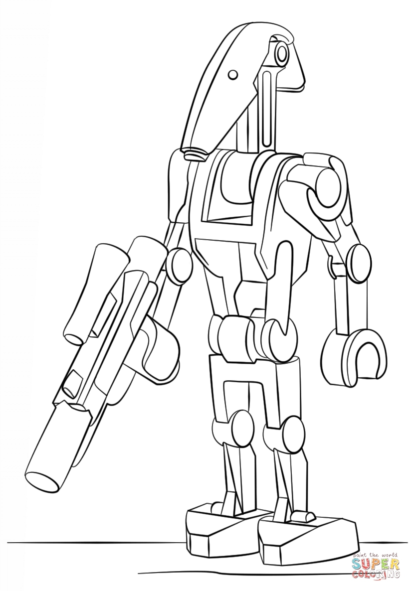 824x1186 Lego Star Wars Coloring Pages Elegant Lego Battle Droid Coloring