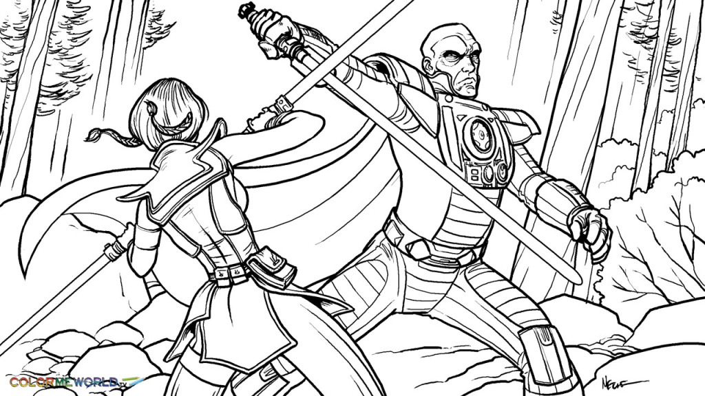 Star Wars Battle Coloring Pages At Getdrawings Com Free For