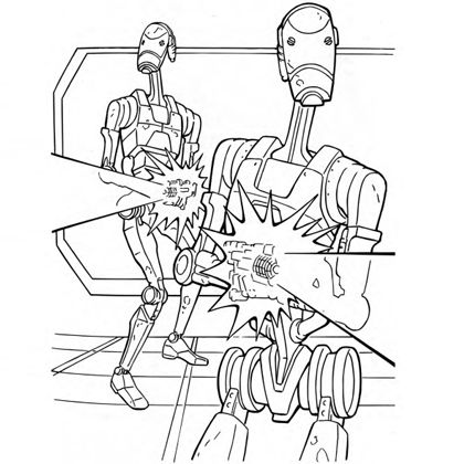 420x420 Star Wars Droid Coloring Pages