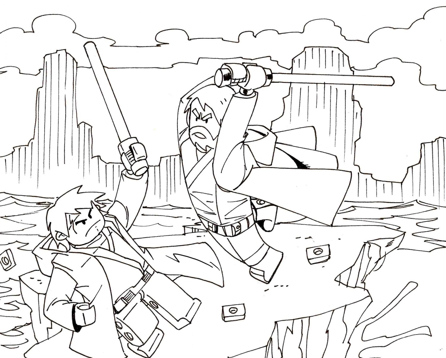 Star Wars Battle Coloring Pages At Getdrawings Free Download