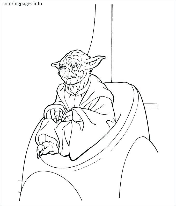 680x794 Yoda Coloring Page Star Wars Battle Droids Yoda Mask Coloring Page