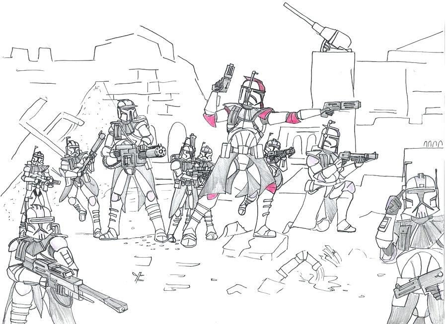 900x654 Clone Wars Coloring Pages