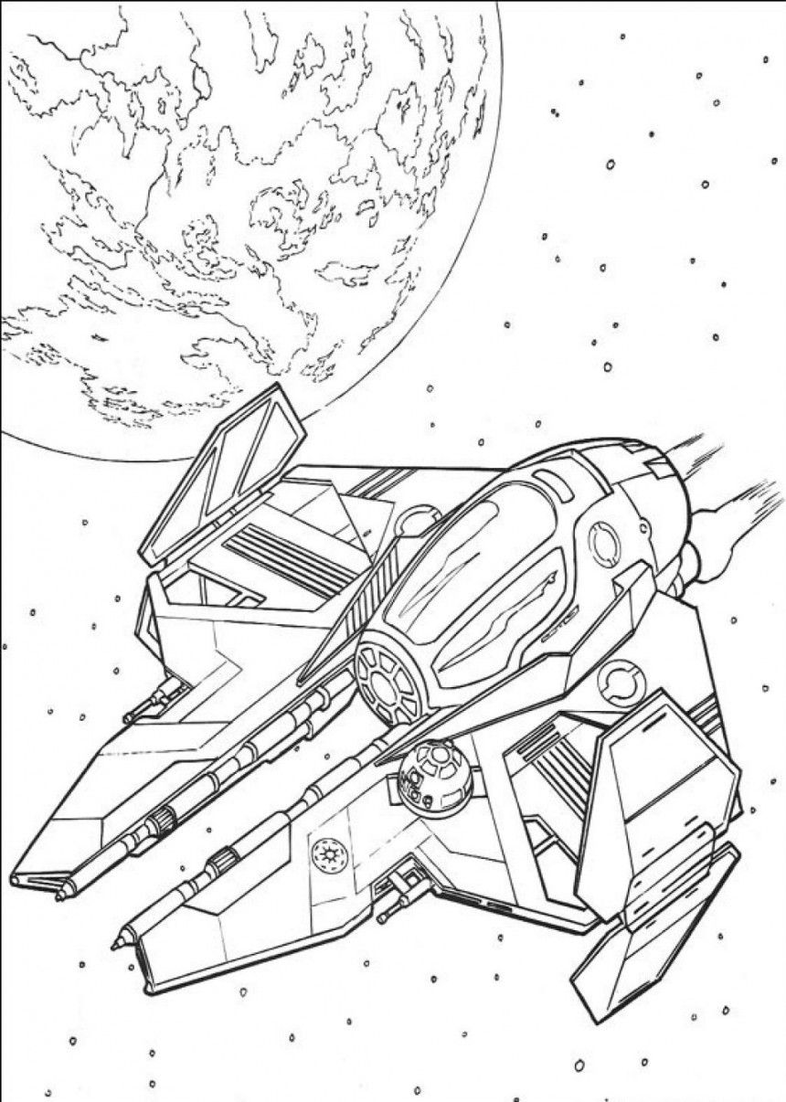 860x1206 Colossal War Ship Coloring Pages Star Wars