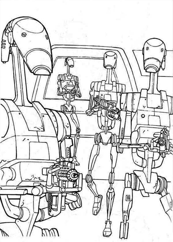 600x841 Droids With Weapons Free Coloring Page Kids, Movies, Star Wars