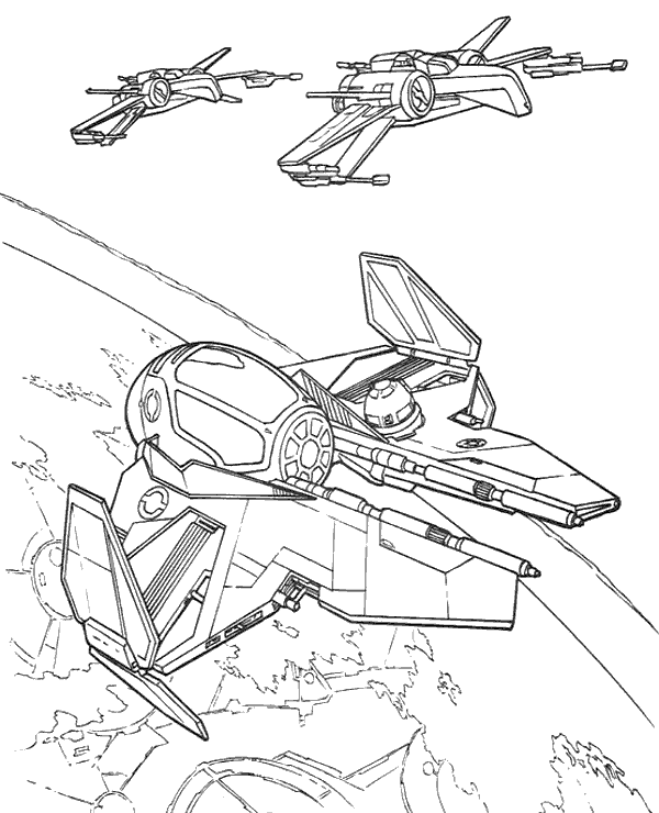 600x740 Jedi Starfighter X Wing Coloring Pages To Print Or Download For Free