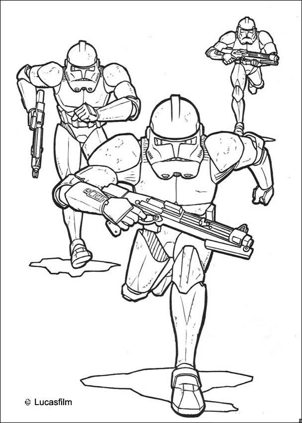 607x850 Clone Wars Coloring Pages Emperor Clone Soldiers Coloring Pages