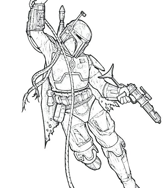 520x600 Coloriage Boba Fett Perfect Coloring Pages Printable New Coloriage