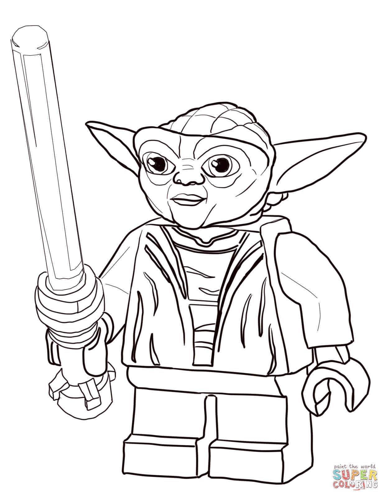 1238x1600 Lego Star Wars Master Yoda Coloring Page To Print