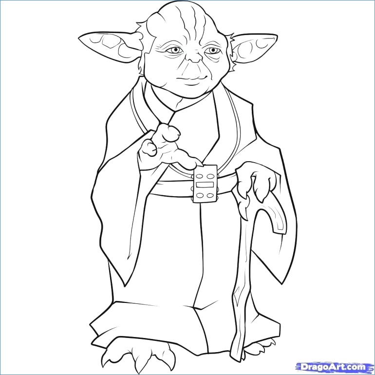 770x770 Star Wars Coloring Pages Ewok