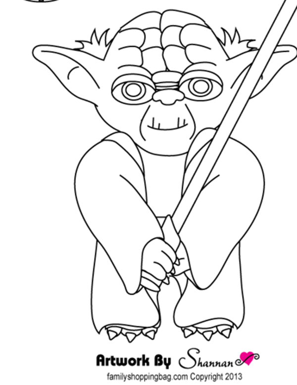 600x779 Star Wars Free Printable Coloring Pages For Adults Kids {over