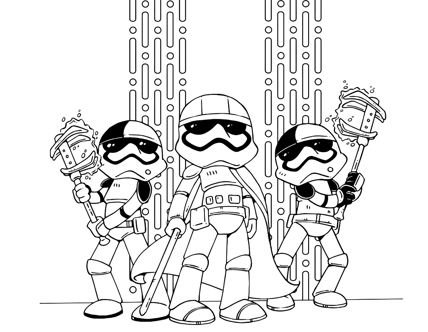 1500x1164 Star Wars The Last Jedi Cute Coloring Pages