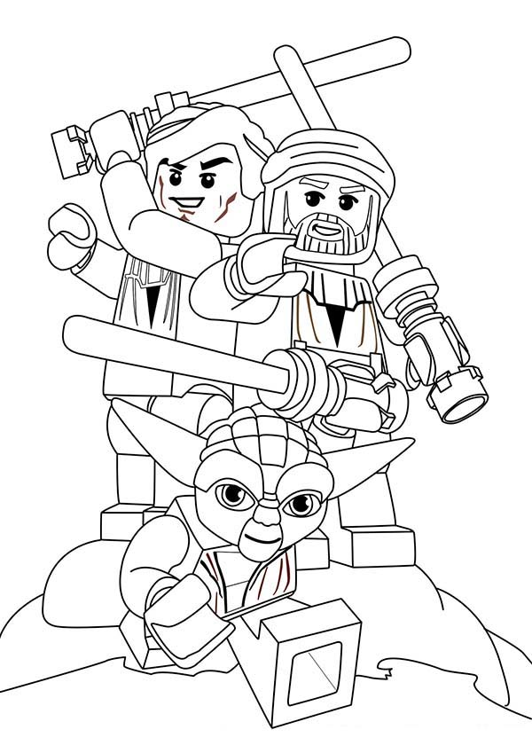 600x849 Lego Star Wars Characters Coloring Page